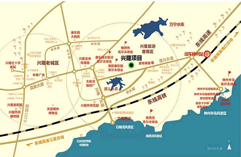 海南臻园交通图
