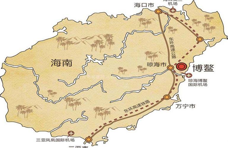 博鳌·美丽熙海岸交通图