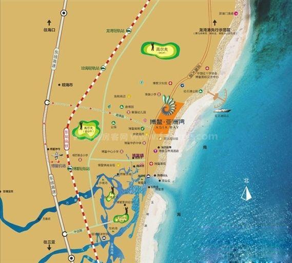 博鳌亚洲湾交通图