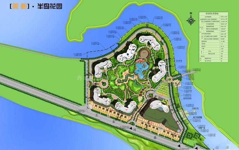 半岛花园交通图