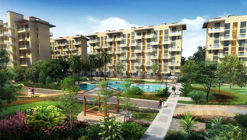 琼海官塘首府项目主推房源户型建面为100㎡三房两厅 均价19000元/㎡