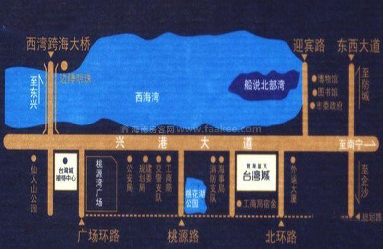 碧海蓝天台湾城区位图
