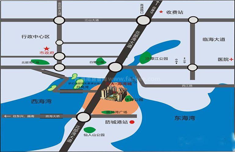 晟大海湾城区位图