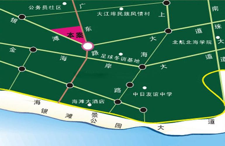 银滩圣美阳光家园区位图