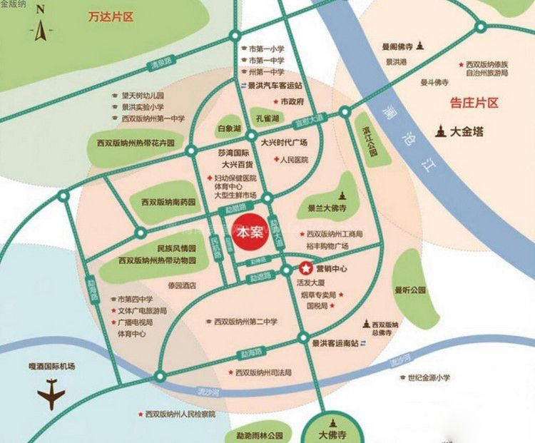 金版纳尚城区位图