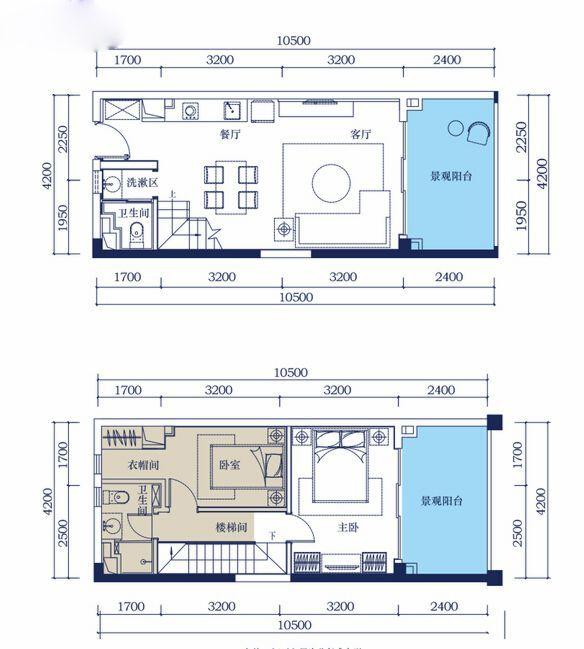 2房2厅2卫 70平