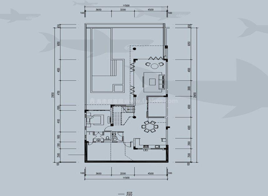 联排别墅户型 建面235平