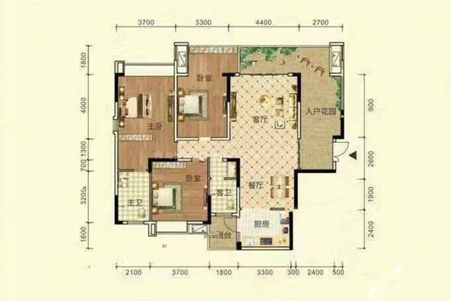 11#A户型 建筑面积:132平米