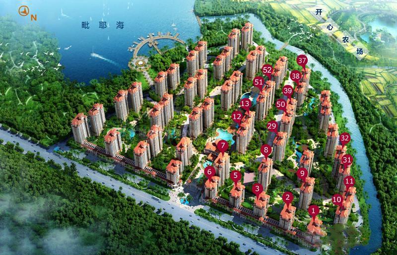 临高衍宏海港小镇64㎡朝南两房在售,均价14000元/㎡