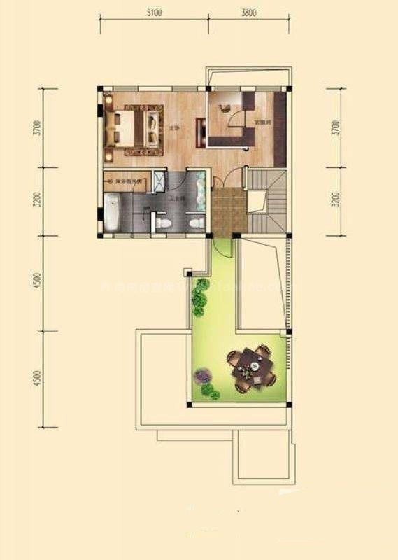 桂林公馆原乡墅(P1)三层户型 2室1厅1卫