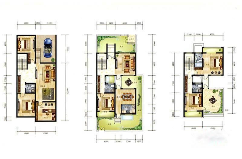 E户型 6室4厅4卫 建筑面积:177