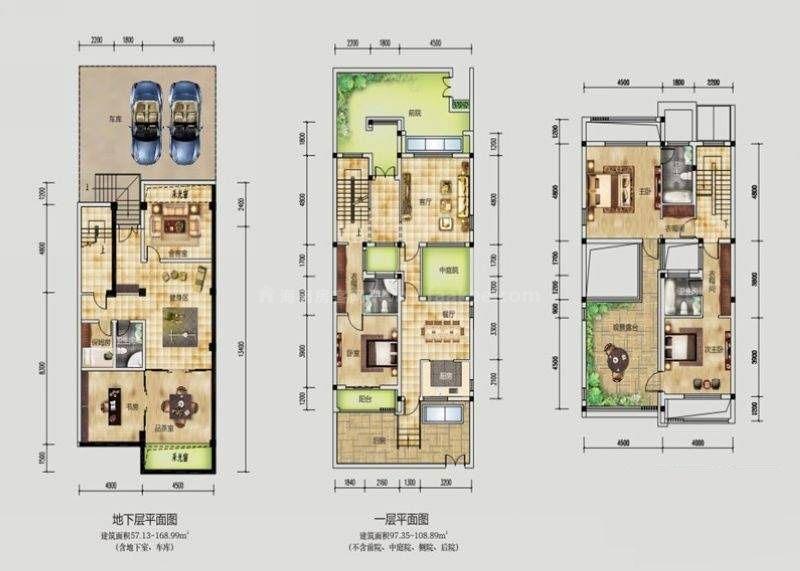 桂林公馆原乡墅天地合一园景墅P5户型 6室3厅4卫1厨 建筑面积:182平米
