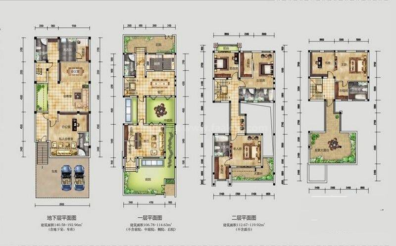 桂林公馆原乡墅二进三院大宅墅P1户型 7室4厅7卫 建筑面积:299平米