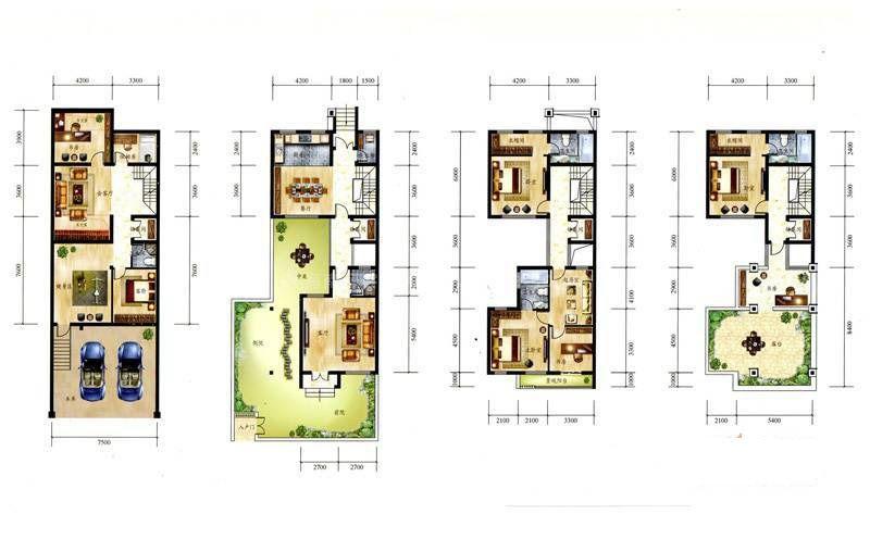 B 8室4厅5卫 建筑面积:241平米