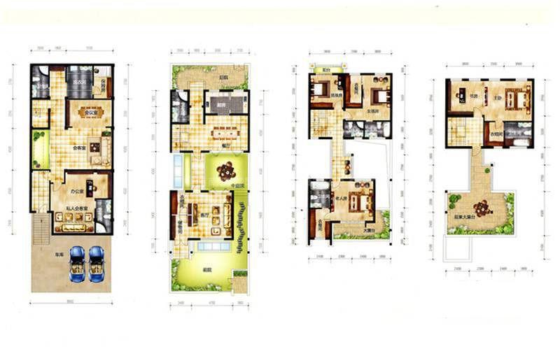 A 9室2厅7卫 建筑面积:315平米