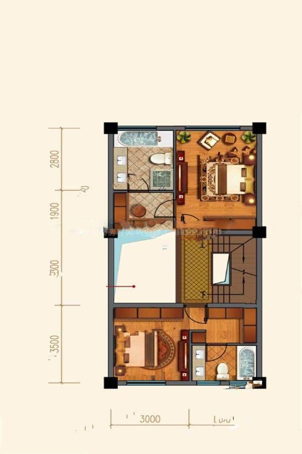 D83户型 3室3厅4卫