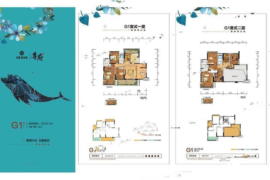 尊府G1户型 7室2厅4卫 建筑面积:236平米
