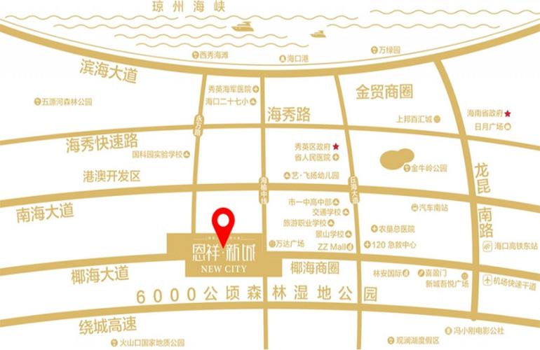 恩祥新城交通图
