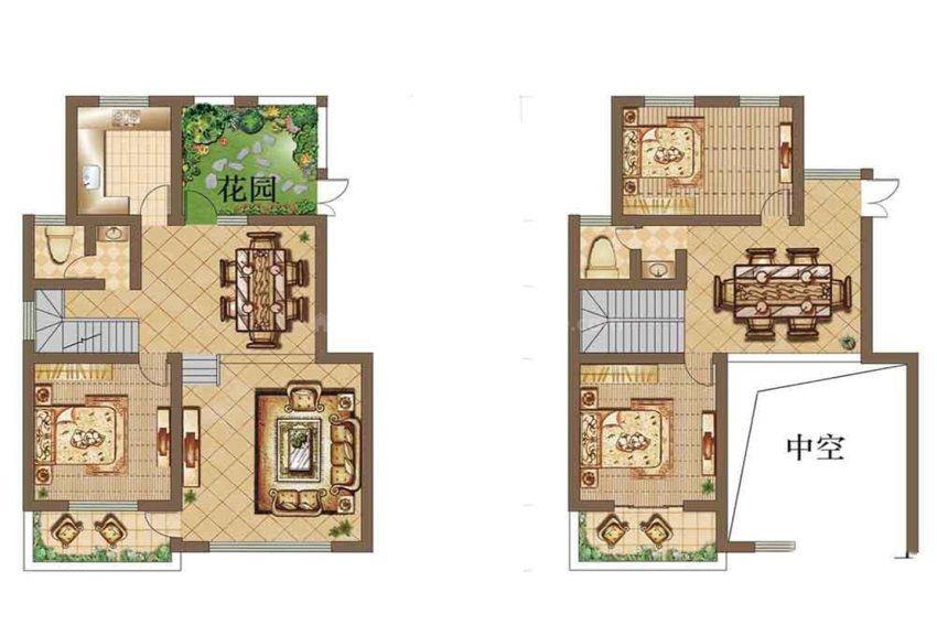 别墅, 叠加别墅, 建筑面积约150.00平米