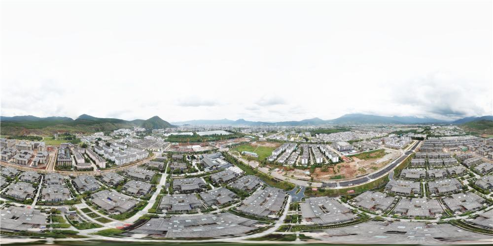 丽江天瑞豪生度假区航拍全景图