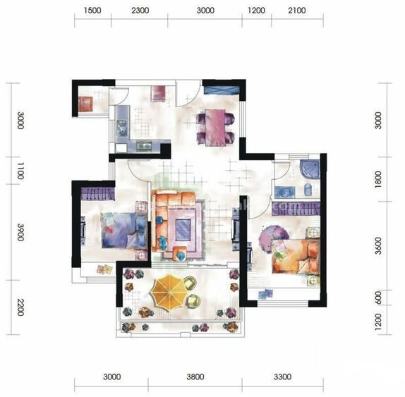 第九湾二居户型图