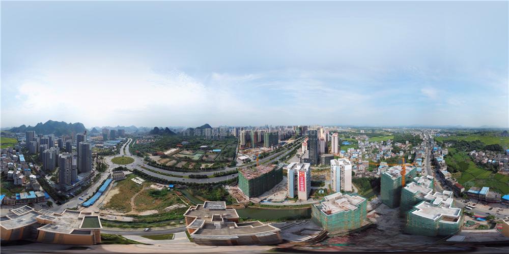 吉安龙城航拍全景图