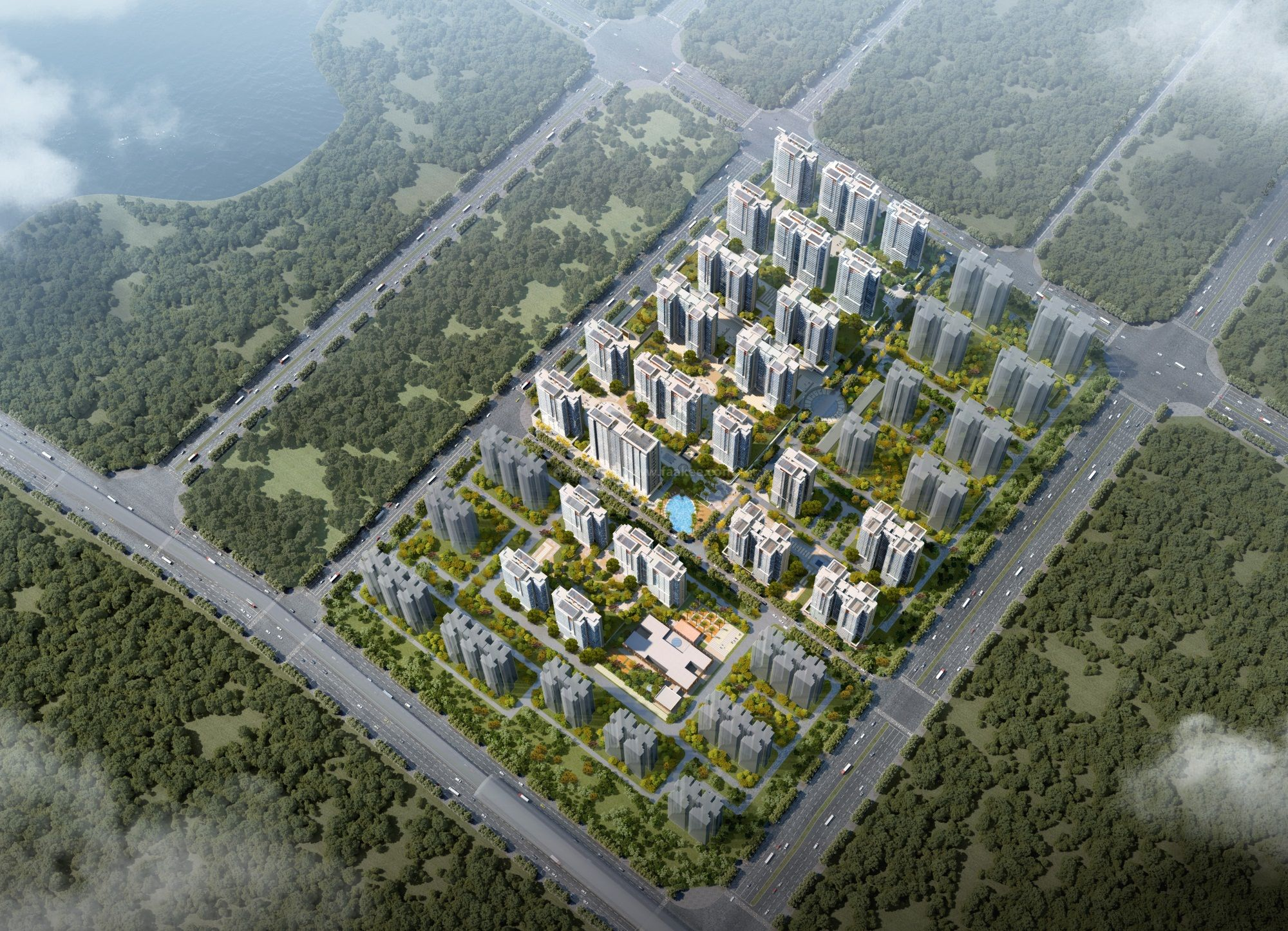 金地·海南自在城鸟瞰图