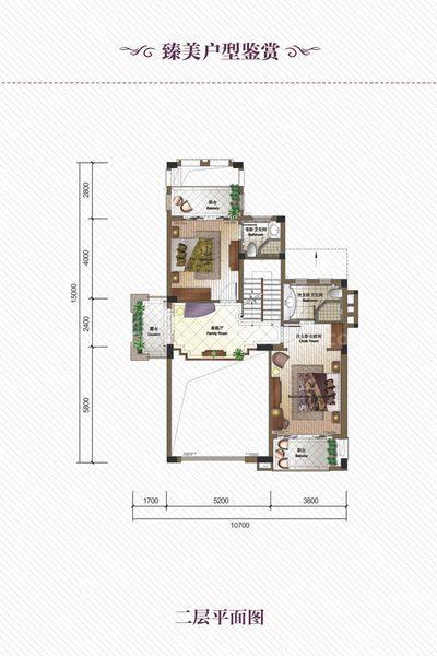独栋别墅DB户型 6室3厅6卫1厨 建筑面积252.00㎡ 二层