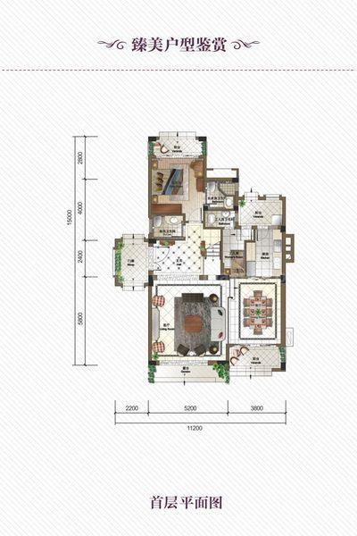 独栋别墅DB户型 6室3厅6卫1厨 建筑面积252.00㎡ 首层