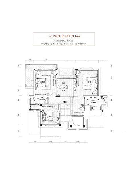 凤凰郡户型 7室2厅5卫1厨 建筑面积300.00㎡ 二层