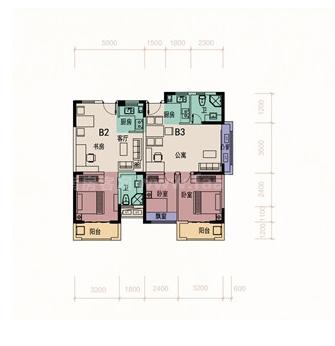 8#、9#01户型图居室: 2室2厅1卫1厨 建筑面积:78.03㎡