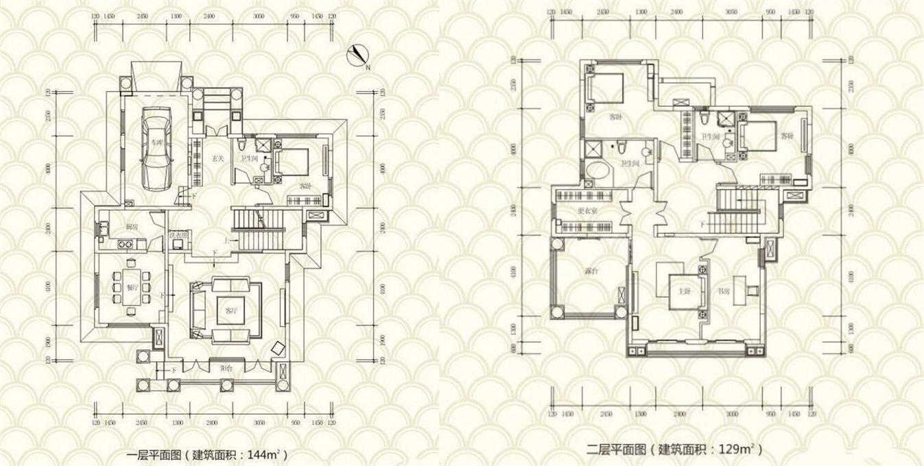 独栋别墅D户型 4房2厅3卫 建面:273㎡
