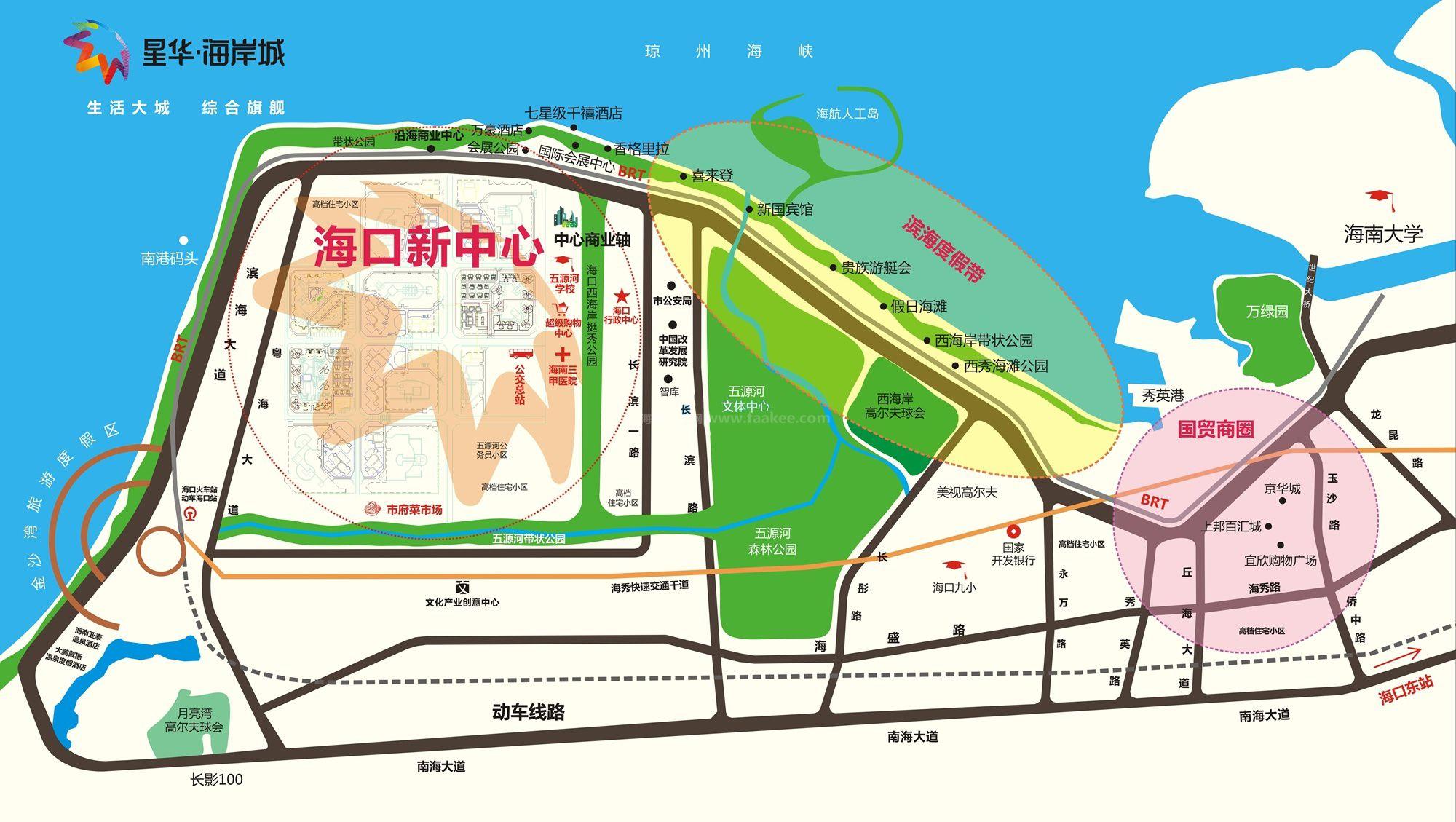星华海岸城区位图