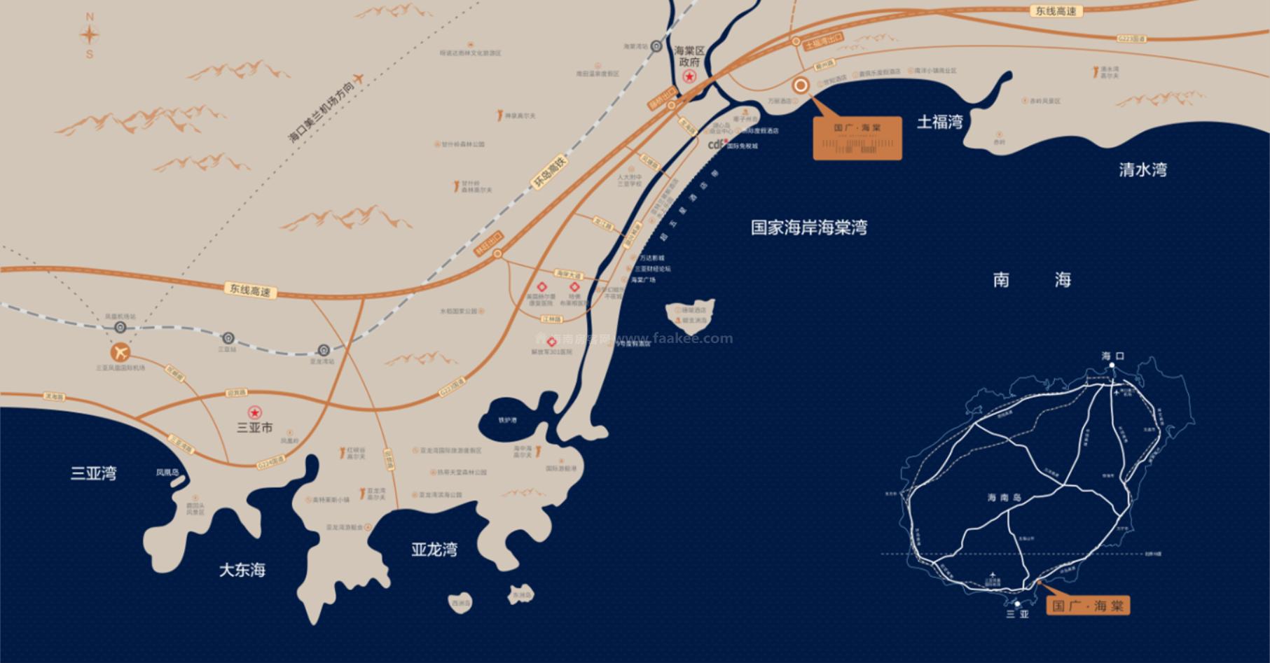 国广海棠湾交通图
