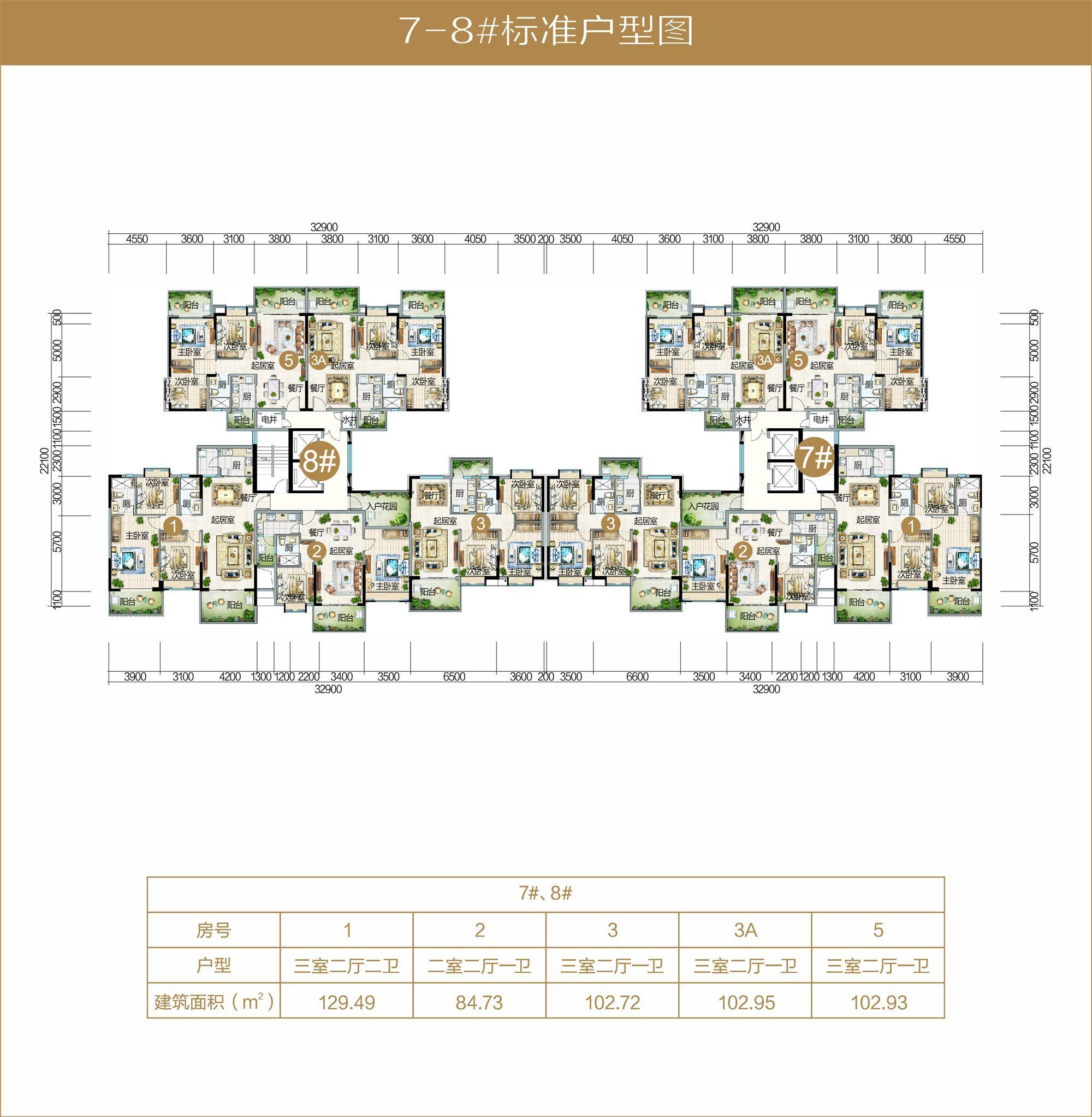 A05区7-8栋标准户型图