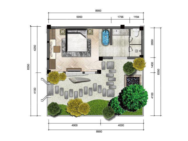 攬月L3户型 1室0厅1卫 建筑面积:34㎡
