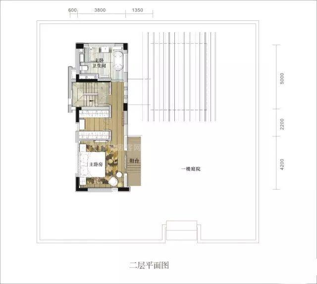 别墅二层 3室3卫 建面270㎡
