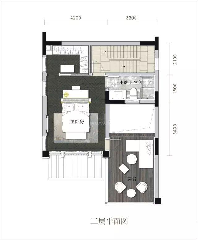 合院二层 3室3卫 建面166㎡