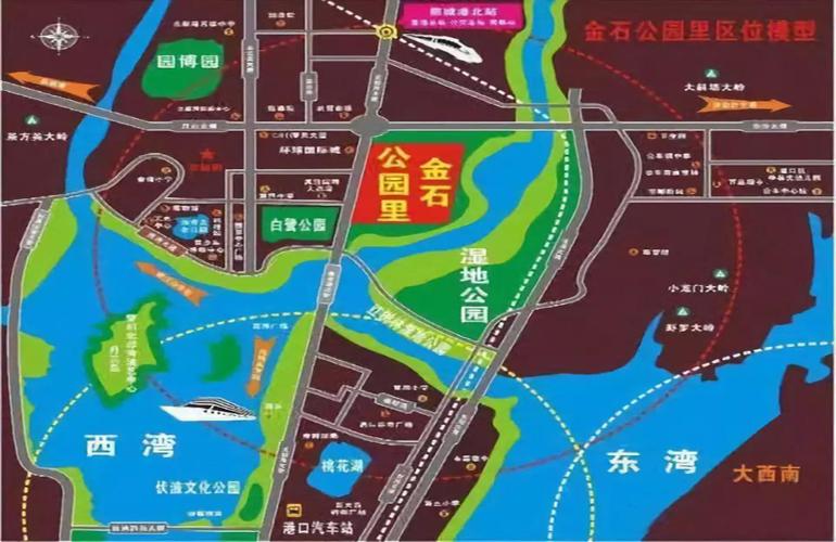 金石公园里交通图