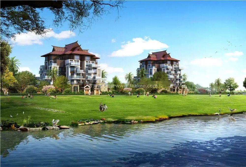欧式人文风情园林,将树阵广场,跌水喷泉,水上栈桥等穿插于庄园,园林融