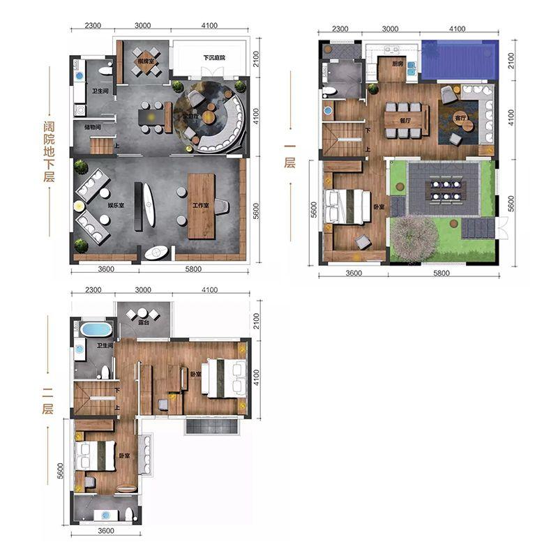 北区阔院 3室3厅4卫 建面186㎡