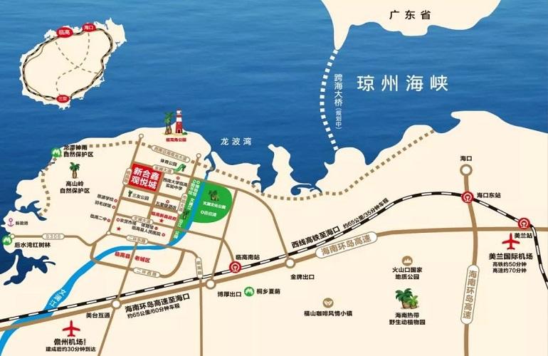新合鑫观悦城区位图