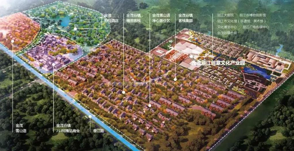 金茂谷镇鸟瞰图