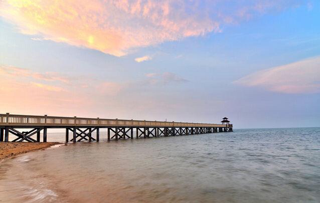 长岛蓝湾项目海滩实景图