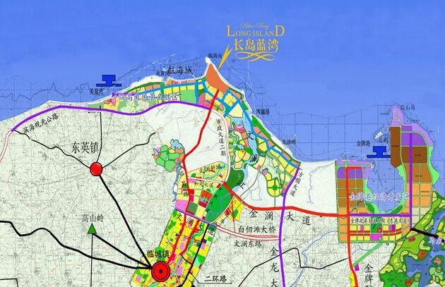 长岛蓝湾项目交通图