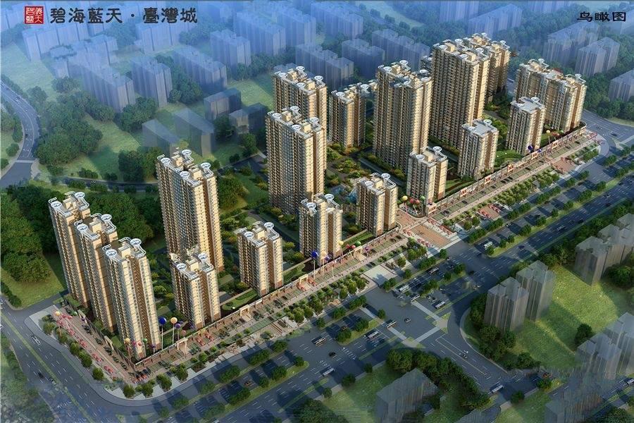 碧海蓝天台湾城鸟瞰图