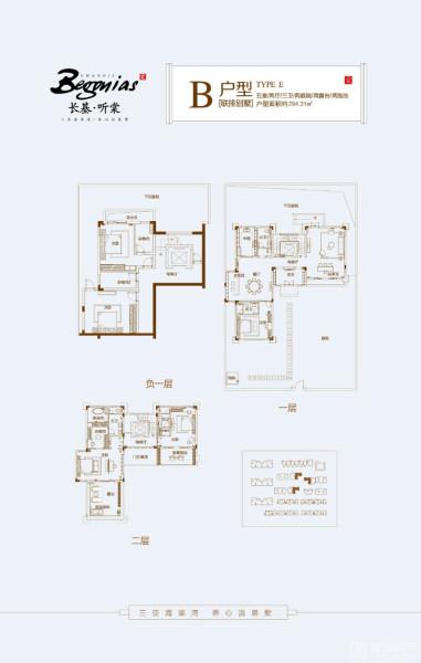 联排别墅B户型  5室2厅3卫1厨 (建面294.31㎡)