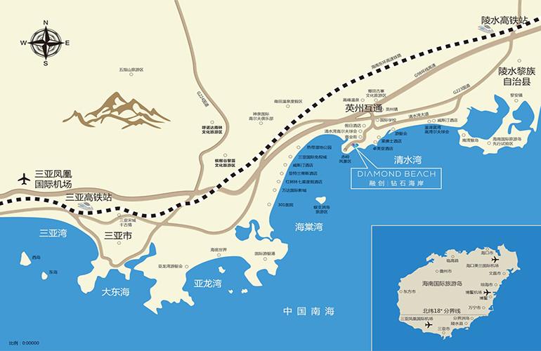 鉆石海岸交通圖