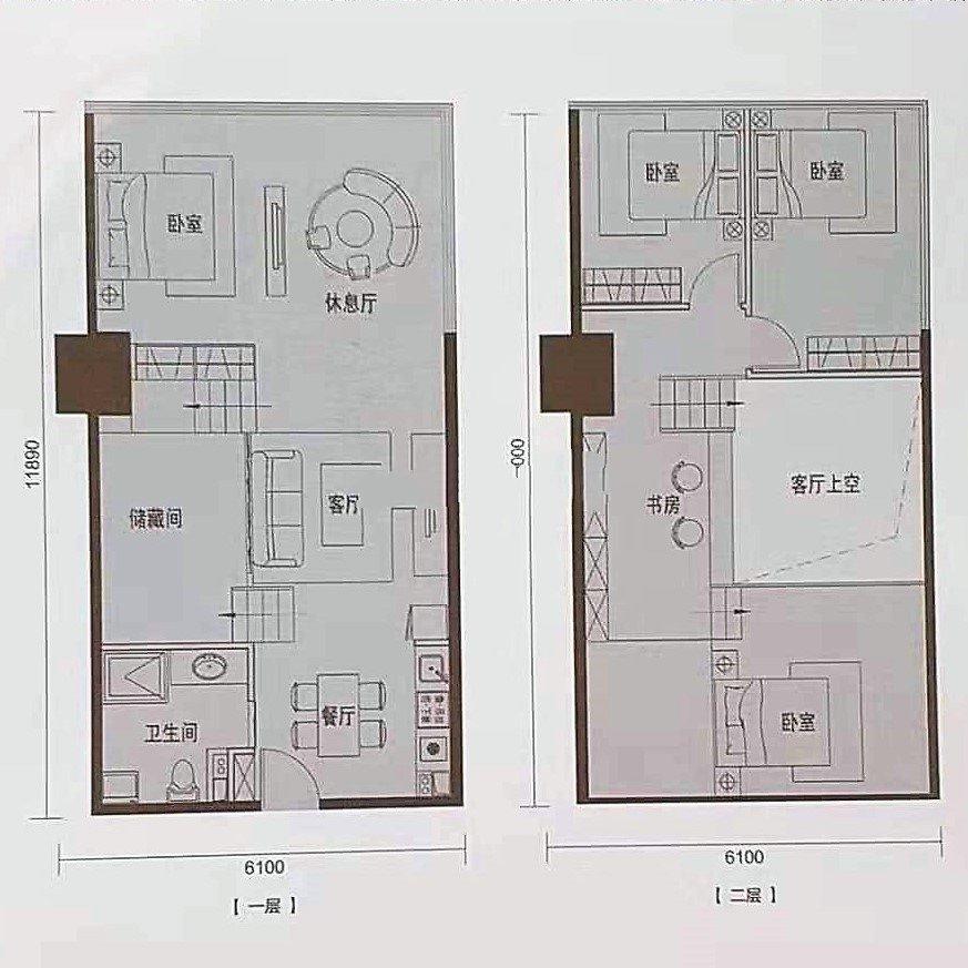 C2 5室3厅1卫1厨建面95㎡