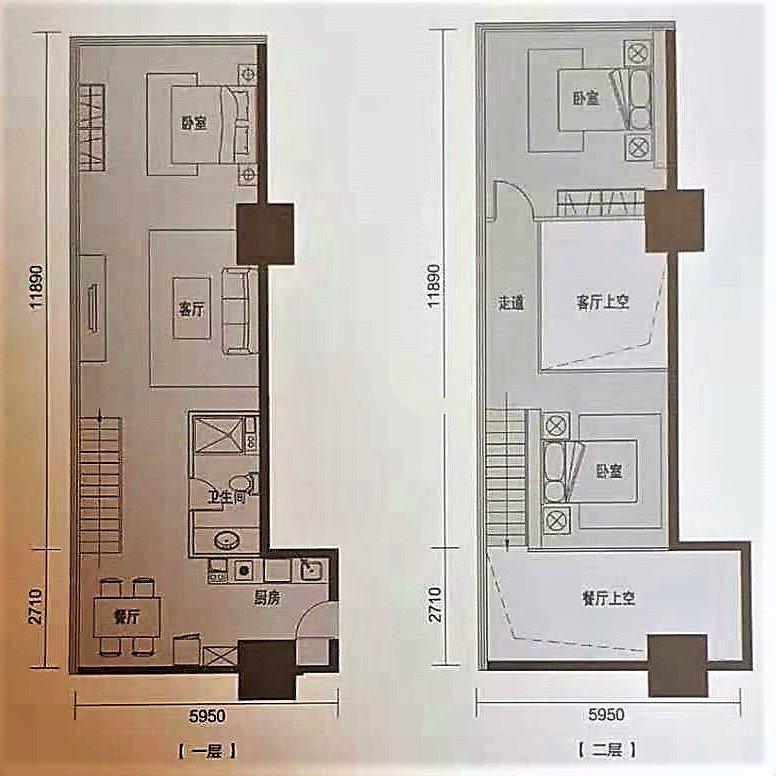 A1 3室2厅1卫1厨 建面92㎡